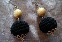Crocheted jewellery! / Crocheted earrings!