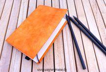 Notebooks / Notizbücher mit Stoffhülle oder Hülle aus SnapPap