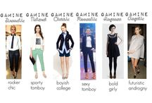 Gamine / Gamine-based styling: Animation, opposition, and line breaks.