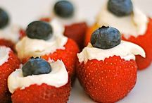 Three Cheers For the Red White and Blue / Foods for patriotic events and holidays
