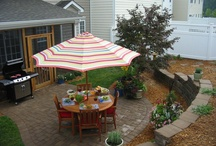 Home - Yard & Patio / Ideas for making our yard not look so sketch / by Jodi Bonjour  (Sew Fearless)