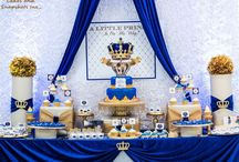 Prince Party Ideas & Decorations / Prince Crowns Royal Blue & Gold Personalised Birthday Party Decorations Supplies Packs Shop Online Australia Banners Bunting Wall Display Cupcake Toppers Chocolate Wrappers Juice Water Pop Top Labels Posters Lanterns Invites Cup Stickers Ideas Inspiration Cake Table Katie J Design and Events 1st 2nd 3rd Boys