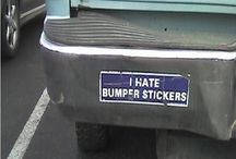Funniest Bumper Stickers  / Funniest Bumper Stickers