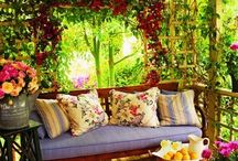 Gazebos and Arbors and Trellises and Pergolas and Overhangs... Swings too / SISTERS ANTIQUES