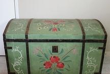 Beschilderde kist