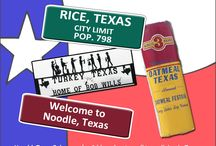 Funny Texas Towns / Check out this list of funny named Texas towns. Better yet, go visit them to see what all the hoopla is about, instead! Happy trails everyone!!!