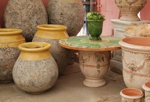 French Garden Decor and Fountains / Inspiration and photos for classic French Garden Design. From Anduze pottery to French limestone fountains, these are hallmarks of a French garden.
