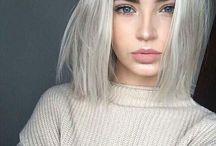 White blonde hair makeup