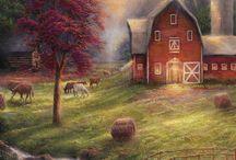 Art: Charming Country Scenes / by Vonnie Davis