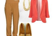 outfit ideas / Combing clothes with colour :)