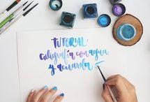 escritura watercolor