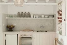 small kitchen in cyclades