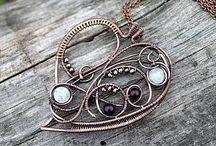 Сердечки wire wrap hearts