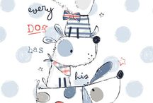 Dogs and cats illustrations