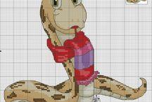 Cross stitch - snakes