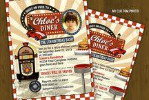 vintage diner party