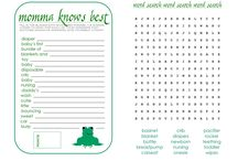 Baby Shower Games / Baby Shower Games printable for mom to be.