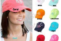 Monogrammed baseball caps