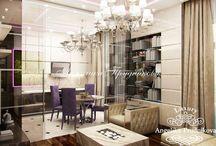 Дизайн проект маленькой двухкомнатной квартиры-студии / Интерьер для маленькой двухкомнатной квартиры на улице Вернадского выполнен в современном стиле. Светлые и кремовые оттенки стен, мебели и оформления делают квартиру более теплой и уютной, а фиолетовый цвет создаёт интересный и загадочный контраст. В небольшой квартире-студии имеется гостиная и спальня средних размеров, а также интересно оформленный балкон с панорамными окнами.