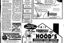 Alton Telegraph HOOD'S Ads from the Past / These are historic ads of HOOD'S and HOOD'S West Alton that were in the Alton Telegraph.