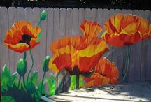 garden wallpaint