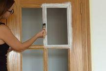 Pintando las puertas