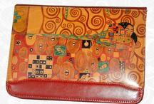 Kožené ručne maľované spisovky
