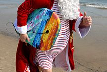 DIY Santa on Holiday Christmas Costume Idea / Inspiration, make up tutorials and all accessories you'll need to create your own DIY Santa on Holiday Costume.