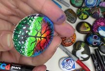 Art Videos / Art Videos by Samantha Martin, Posca paint pens, Acrylics, rock art, stone art, art, education, inspiration.