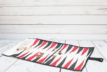 Upcycled Sailcloth Backgammon Set