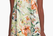 Redbubble A-Line Dresses / Women, Fashion, Floral, Dresses