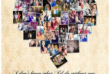 My Portfolio: HEART Photo Collages / Samples of Heart Shaped Photo Collages I've designed. Any Occassion.