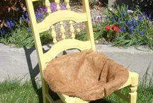 Stühle bepflanzt