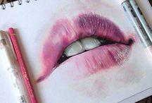 Zeichnung Lippen, Augen, Beine, Anziehsachen❤