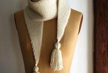 Cachecol e Exarpe de Tricot e Crochet