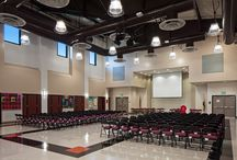 K-12 Multipurpose Rooms / Our state-of-the-art multipurpose rooms serve as athletic facilities, conference centers, lunch rooms, and events spaces