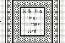 free wedding-themed cross stitch patterns