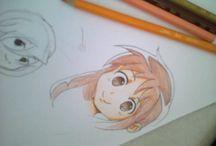 desenhos / alguns dos meus estudos/desenhos usando referências de outros desenhistas