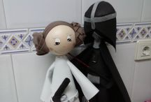 Fofuchi Princesa Leia y Luke Skywalker