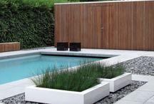 casa, piscinas