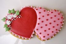Decorated Cookies ~ Hearts