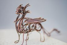 Metal sculptures / Unique wire wrapping and metal sculptures. Original gift ideas for him and for her.
