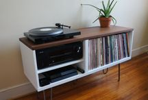 Record Player Stands / Ideas for record player stand and vinyl storage