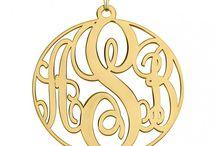 14K Monograme necklace