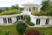 house architecture / strawbale, cob, natural living, creative buildings
