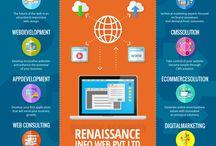 Logo   Web Design   Development   SEO Company / Renaissance Info Web Pvt. Ltd sharing latest updates and news about digital marketing world. www.renaissanceinfoweb.com