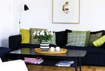 Black sofa & colors