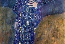 Klimt: Kékruhás hölgy 2
