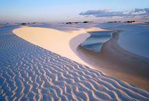 Désert de sable blanc Nouveau Mexique (white sands) / Immense desert de sable blanc