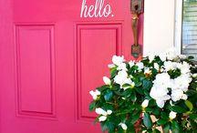 Portas e guirlandas de porta